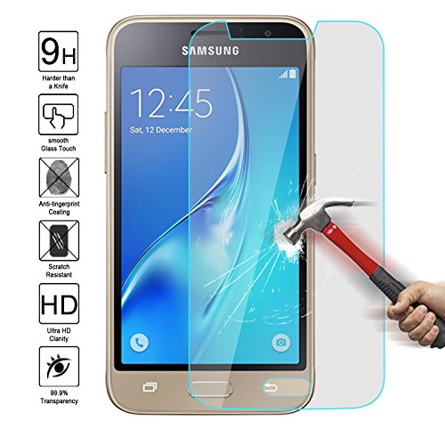 Samsung J1 Mini Tempered Glass Screen Protector,Kmall 0.26mm 2.5D HD Clear Oleophobic Coating Screen Film Cover For Samsung J1 Mini/J105 Hardness Anti Scratch Fingerprint water resistant