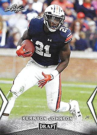 Amazon.com  2018 Leaf Draft  33 Kerryon Johnson Auburn Tigers ... aad83c9e8