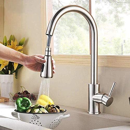 キッチン水栓 蛇口 キッチン 混合水栓 キッチン水栓 蛇口 台所 台付き 伸縮 360度回転 冷温切り替え 引き出し式 節水