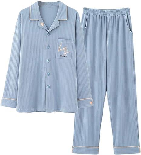 LASERIPLF Camisa de Noche para Mujer, Conjunto de Pijama para Mujer, Ropa de Dormir para Mujer, Pijama para Mujer, Ropa de Dormir para Tallas Grandes, Pijama de Pareja-Man-XXL: Amazon.es: Deportes y aire