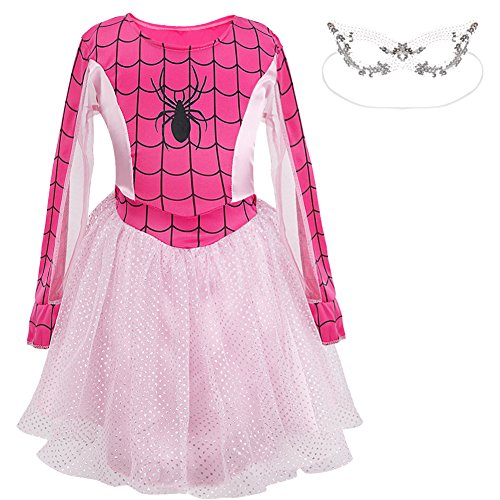 YiZYi (Spidergirl Pink Classic Child Costumes)