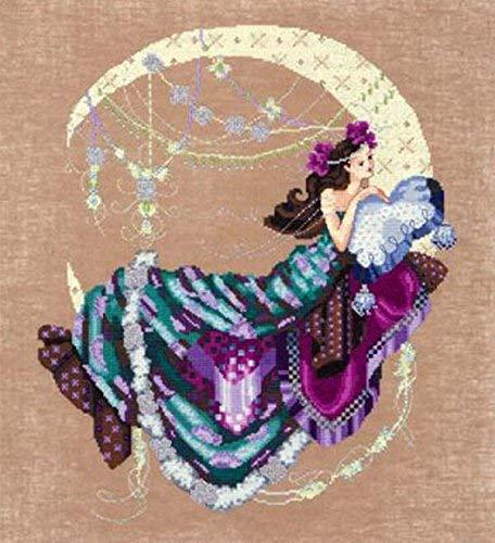 Chart Flowers Stitch Cross - Nora Corbett Cross Stitch Chart Pattern ~ MOON FLOWERS