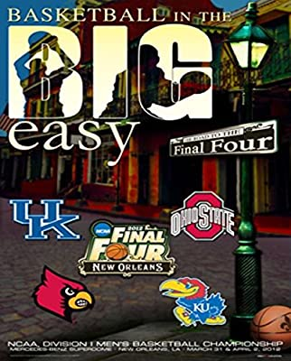 "2012 Official NCAA Final Four ""The Big Easy"" College Basketball Print Poster"