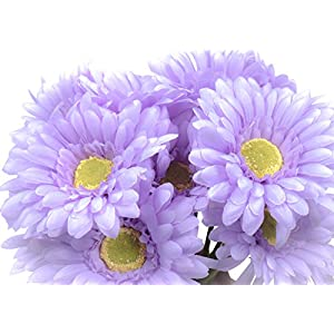 CraftMore Lavender Colored Gerbera Daisy Sets 14 Inch Set of 12 84