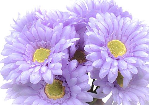 CraftMore Lavender Colored Gerbera Daisy Sets 14 Inch Set of (Purple Gerber Daisy)