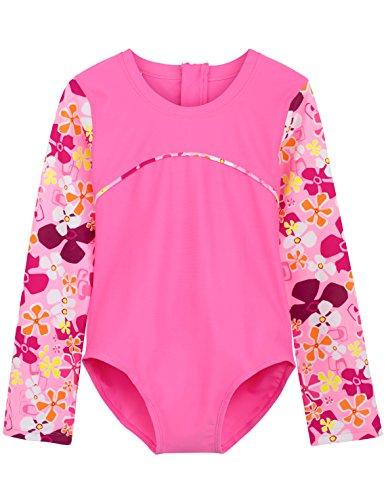 Tuga Girls One-Piece Swimsuit (UPF 50+), Misty Pink, 6/7 yrs