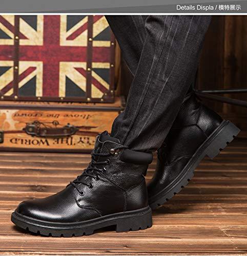 Winter Winter Winter warme Martin Stiefel der Männer Rutschfest Plus SAMT warme Schuhe hohe Top-Tooling Militärschuhe a227b5