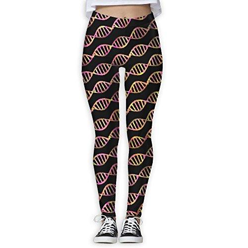 Colorful DNA Splash Women's Slim Workout Full Length Yoga Pant Skinny Leggings Pants - M Dna Sunglasses By