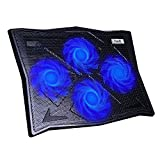 HAVIT HV-F2063A Cooling Pad for 14-17 Inch Laptops with Four 110mm Fans at 1100 RPM(Black)