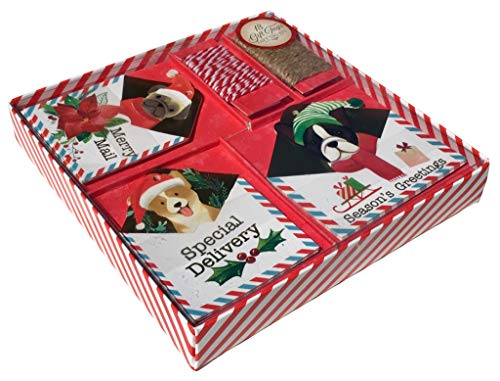 Puppy Christmas Gift Tags - Molly & Rex Puppy Mail Boxed Holiday Gift Tags 63940, 18 ct