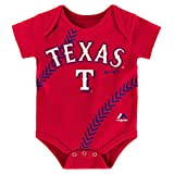 """Texas Rangers Infants Red""""Stitches"""" Creeper"""