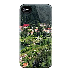 Hard Plastic Iphone 6 Cases Back Covers,hot Alpine Resort Town In Summer Cases At Perfect Customized