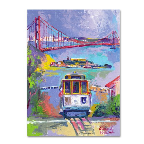 (San Francisco 2 by Richard Wallich, 14x19-Inch Canvas Wall Art)