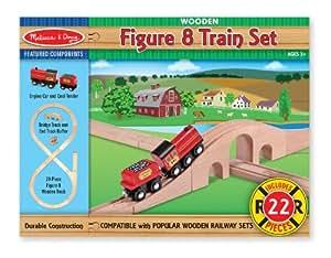 Melissa & Doug Classic Wooden Figure Eight Train Set