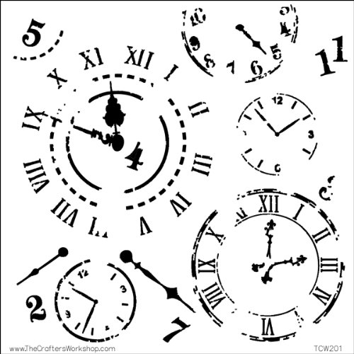 CRAFTERS WORKSHOP 474736 Template, 12 by 12-Inch, Time Travel