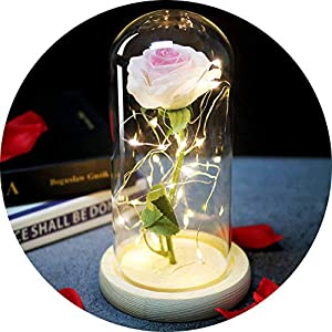 Li-Never Artificial Flower Simulated Rose Home Decoration Ornaments for Girls'Birthday Gifts and New Year Gifts,01 1