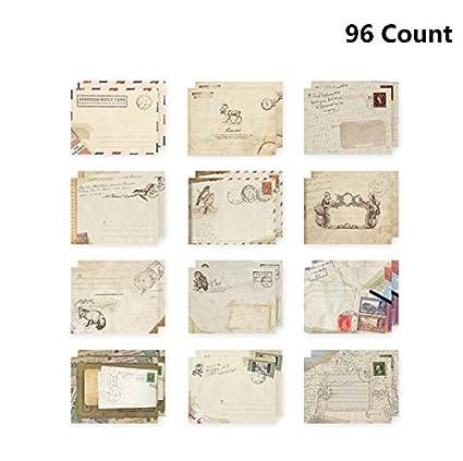 Amazon 96pcs Fireboomoon Greeting Card Envelopes Cute Retro