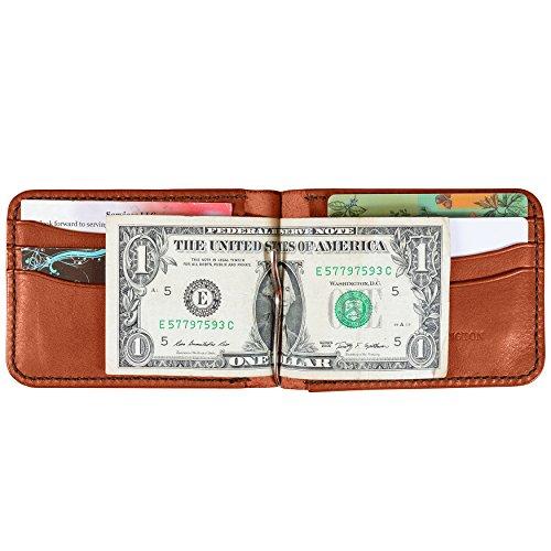 Bridle Handmade Wallet Leather Money Leather Clip Cognac Cowhide Leather Money OXSqn1wxZ