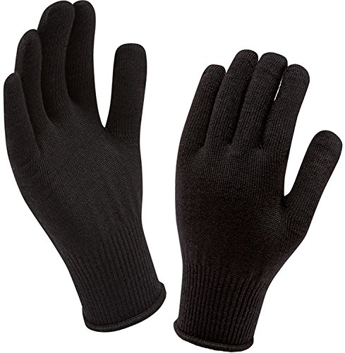 Sealskinz Thermal Liner (Sealskinz Merino Glove Liner, Black, One Size)