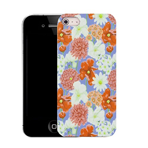 Mobile Case Mate IPhone 4 clip on Silicone Coque couverture case cover Pare-chocs + STYLET - nursery floral pattern (SILICON)