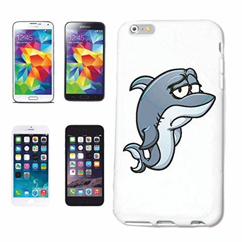 "cas de téléphone iPhone 6S ""EMOTION SAD HAI HAI BLANC BLEU SHARK MEGALODON Hammerhai récif blacktip whalesharks requin mako"" Hard Case Cover Téléphone Covers Smart Cover pour Apple iPhone en blanc"