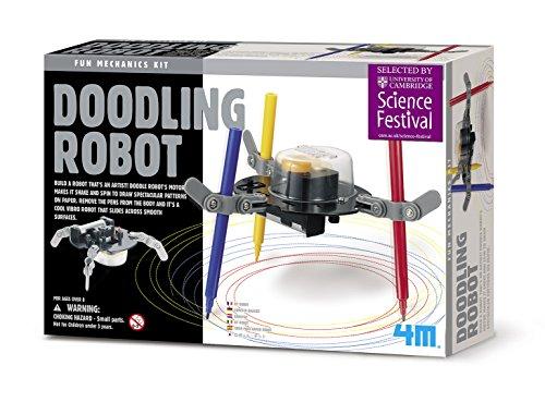 51pqX1yqBwL - 4M Kidzrobotix Doodling Robot - DIY Science Engineering Robotics Kit - STEM Toys Gift for Kids & Teens, Boys & Girls (Packaging May Vary)