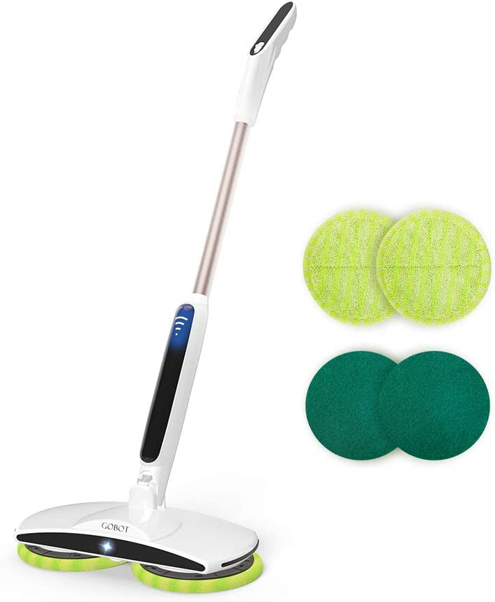 GOBOT Cordless Electric Mop Floor Scrubber for Home Kitchen Hardwood Floor Cleaner