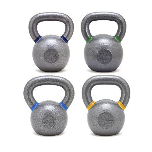 Solid Cast Iron Kettlebell Set 12/16/20/24kg for Crossfit, Strength, Conditioning Training by OneFitWonder