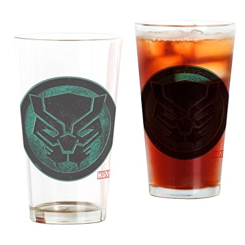CafePress Black Panther Grunge Icon Pint Glass, 16 oz. Drinking Glass