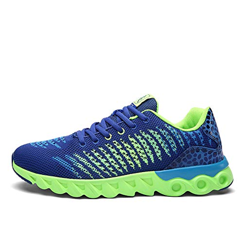 Deportivas Mujer Unisex Zapatos Deporte para Sneakers Hombres Running Gimnasio Transpirables Azul Casual Fqdx0nT