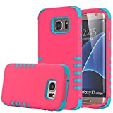 Galaxy S7 Edge Case, WITCASE [3-piece] Hybrid Shockproof Defender High Impact Body Armor Hard PC with Silicone Case Cover for Samsung Galaxy S7 Edge (red)