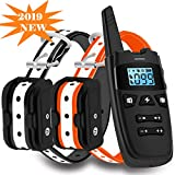 Cheap WDFZONE Dog Training Collar with Remote for 2 Dogs Waterproof Rechargeable Shock Collar with Remote for Small Medium Large Dogs (for Two Dogs)