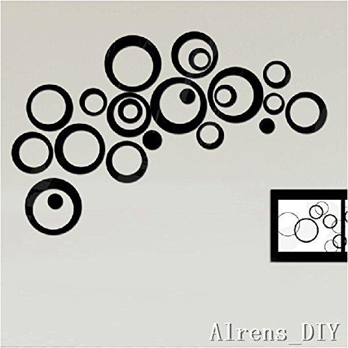 Cheap  Alrens_DIY(TM) 22pcs Rounds Dots Circles Mirror Surface Crystal Wall Stickers DIY Acrylic..