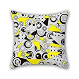 PILLO geometry pillow covers 18 x 18 inches / 45 by 45 cm gift or decor for him,adults,chair,home,dinning room,kids girls - double sides