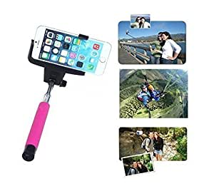 Rechargable Adjustable Extendable Self-portrait Wireless Bluetooth Remote Camera Shooting Shutter Monopod Selfie Handheld Stick Pole with Mount Holder Specially Designed For Case Samsung Note 4 Cover 5s 5c 5 4s 4 For Case Samsung Note 4 CoverFor Case Samsung Note 4 Cover,For Case Samsung Note 4 Cover, S2, ,For Case Samsung Note 4 Cover(Hot Pink)