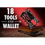 Gadget Hero'sTM Wallet Ninja 18-in-1 Survival Tool Kit Multifunction Credit Card Style
