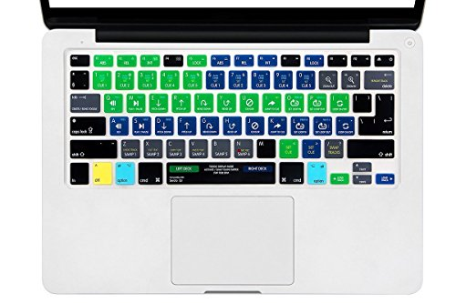Serato Keyboard Shortcuts - Serato DJ Shortcut Keyboard Cover Mac Silicone Portector Skin For Macbook Air 13 & Macbook Pro 13 15 17, Retina (US/European ISO Keyboard) (EU/US Both)