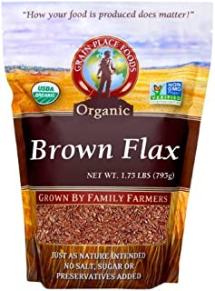 product image for Grain Place Foods Non-GMO Organic Brown Flax 28oz Bag