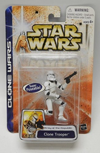 Star Wars, Clone Wars, Army of the Republic Action Figure, Super Articulated Clone Trooper