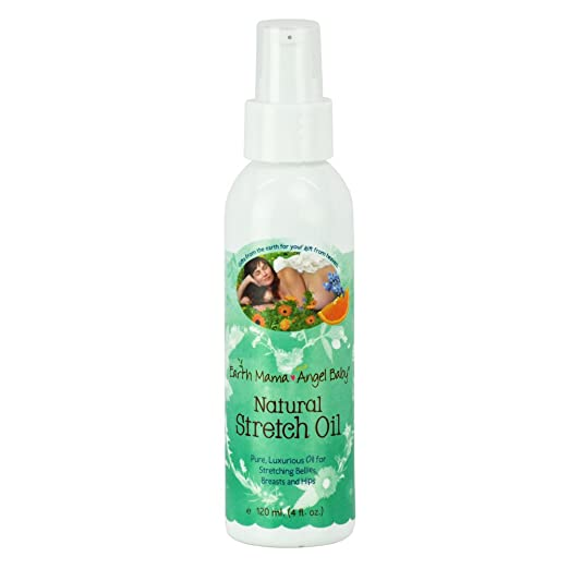 Earth Mama Natural Stretch Oi for Itchy Pregnancy Stretch Marks (4 Fl. Oz.)