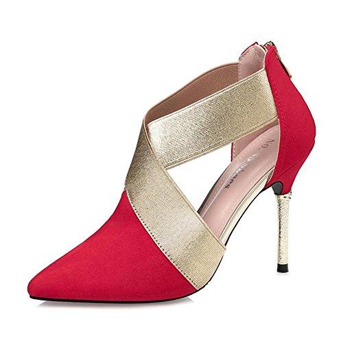 Cerniera 10cm Dopo Red Aguzza Tacchi yc Alti L Donna Fine La Scarpe Suede Nightclub Con gzH1nxxp