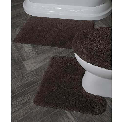 Better Homes and Gardens Thick and Plush 3-Piece Bath Rug Set, Brown Basket