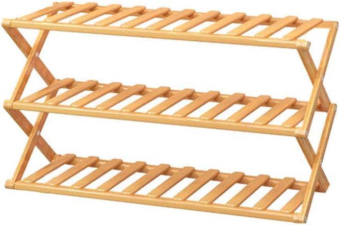 FiedFikt Zapatero plegable de madera para almacenamiento de zapatos, estante de bambú para almacenamiento de zapatos, organizador de accesorios para el hogar,D: Amazon.es: Hogar