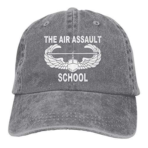 LIULAP Air Assault School Baseball Cap Dad Hat Adjustable Cap Visor Hats Gray