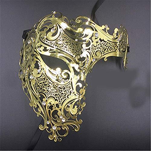 Silver Gold Scary Metal Filigree Laser Cut Skull Venetian Masquerade Mask Wedding Halloween Ball Costume Party Masks 24]()