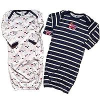 Gerber Baby Boys Lap Shoulder Gowns, 2 Pack, Firetruck 0-6M