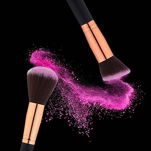12 Pieces Makeup Brushes Set Foundation Blending Blush Concealer Eye Face Lip Brushes for Powder Liquid Cream Complete Makeup Brushes Kit Synthetic Bristles