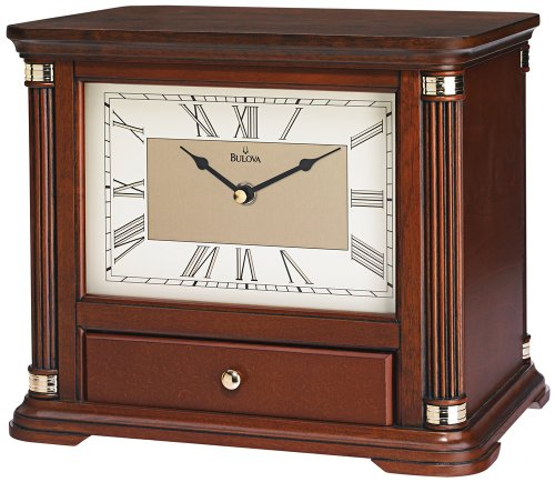 Bulova Norbourne Storage Mantel Clock by Bulova (Image #1)