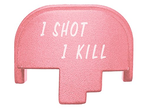 OSOK text 2L Pink Rear Slide Cover Plate for Smith & Wesson S&W M&P full size & compact pistol
