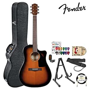 Fender Acoustic Electric Guitar Amazon : fender cd 60ce sunburst 096 1536 232 acoustic electric guitar kit w hard case ~ Hamham.info Haus und Dekorationen